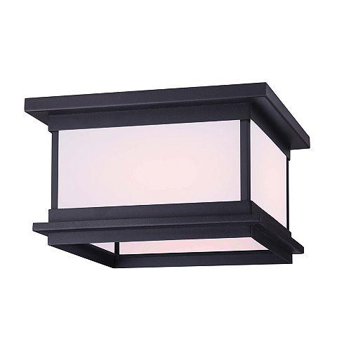 Akello 2-Light Black Outdoor Flushmount