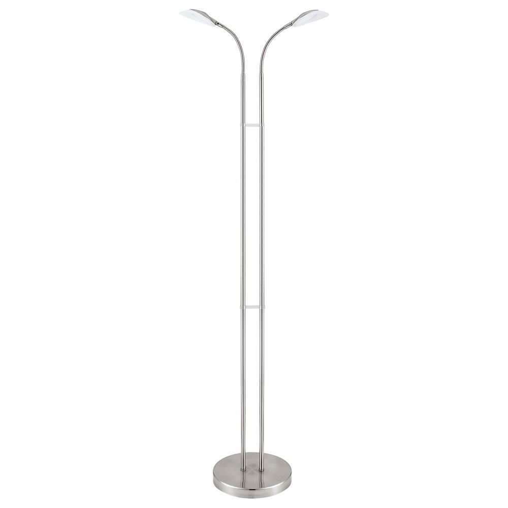 Eglo Canetal 1 50-inch Matte Nickel LED Floor Lamp with Gooseneck