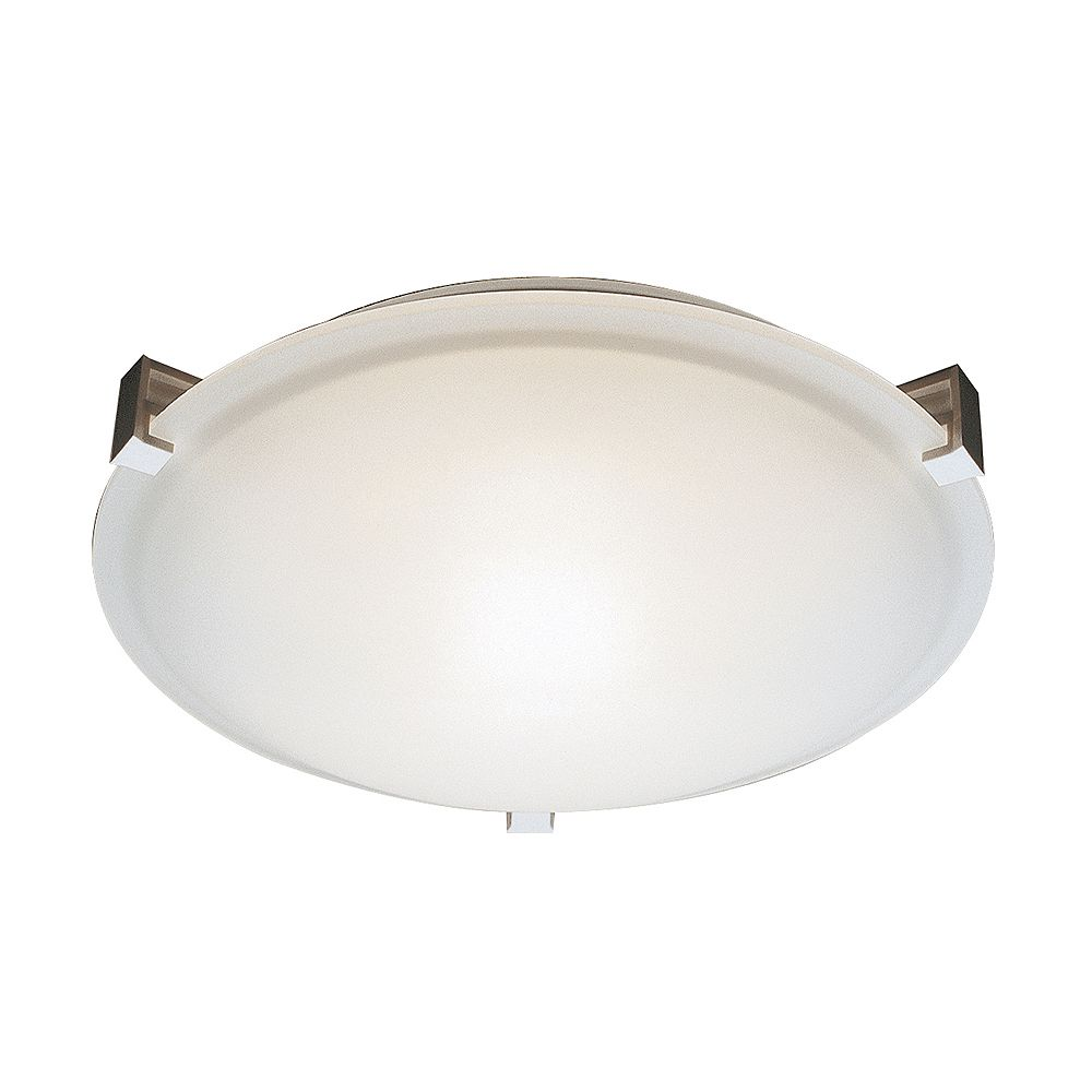 Bel Air Lighting Neptune 20 in. 4-Light Brushed Nickel Flush Mount with Frosted Glass Shade