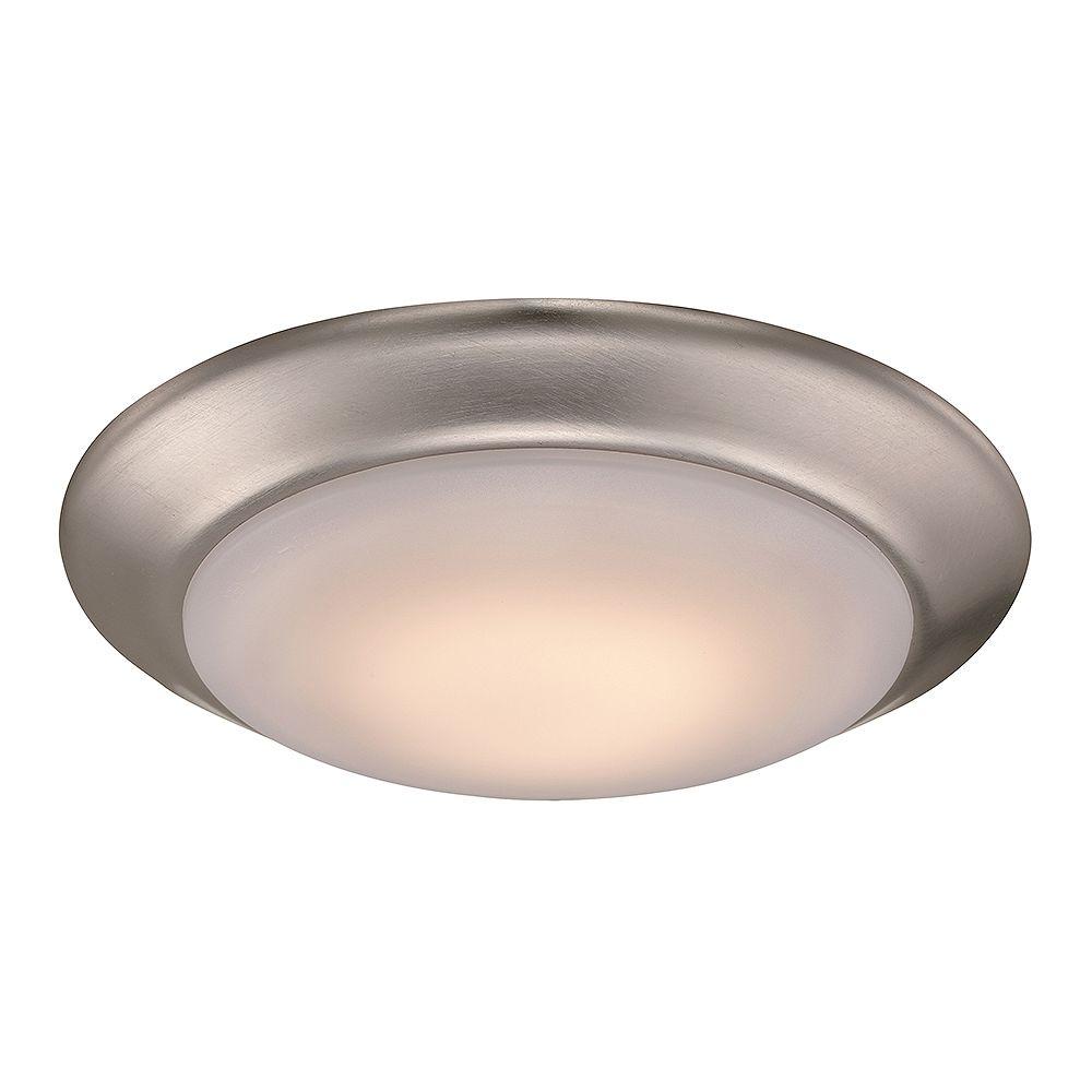 Bel Air Lighting Vanowen 7.5 in. 15-Watt Brushed Nickel Integrated LED Flush Mount