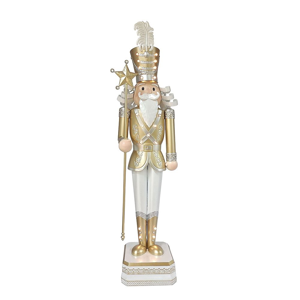 Home Accents Holiday 4ft. Metal Christmas Light-Up Nutcracker Christmas Decoration