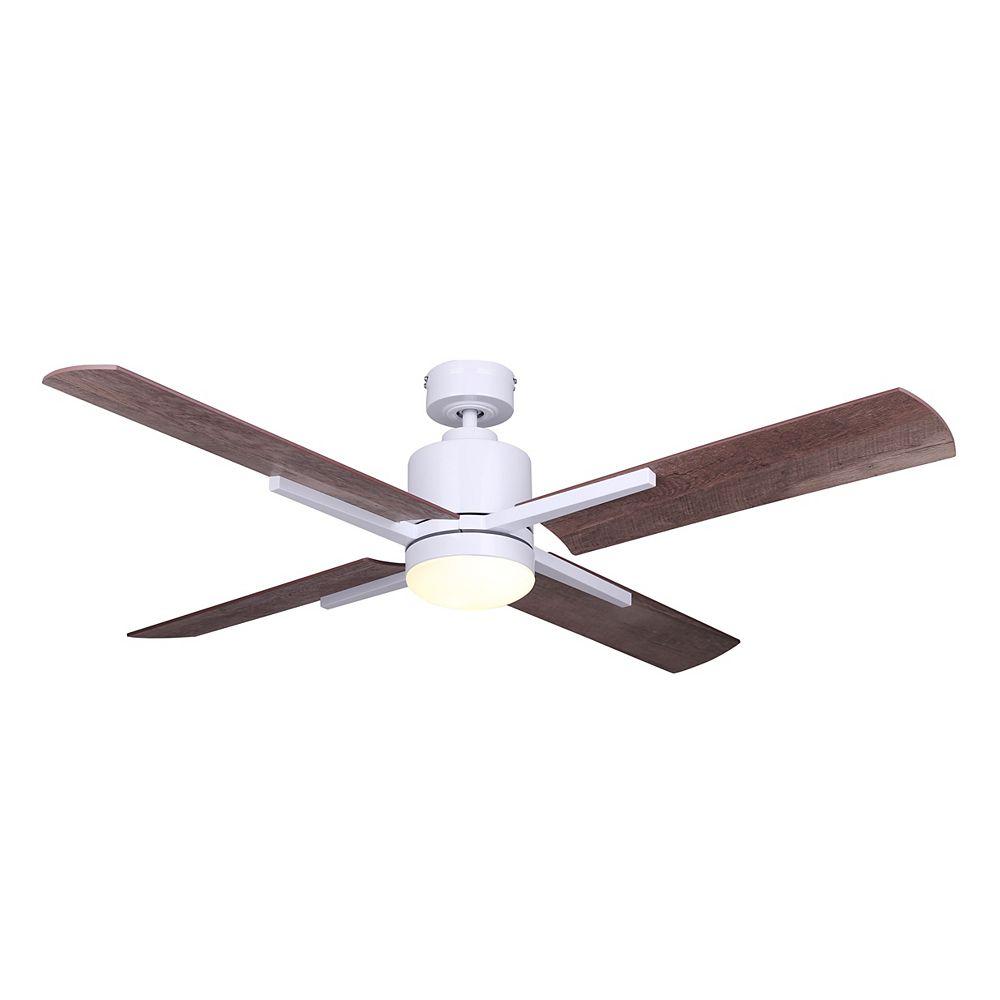 Canarm Ltd Loxley 52 in. LED White Ceiling Fan