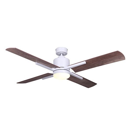 Loxley 52 in. LED White Ceiling Fan