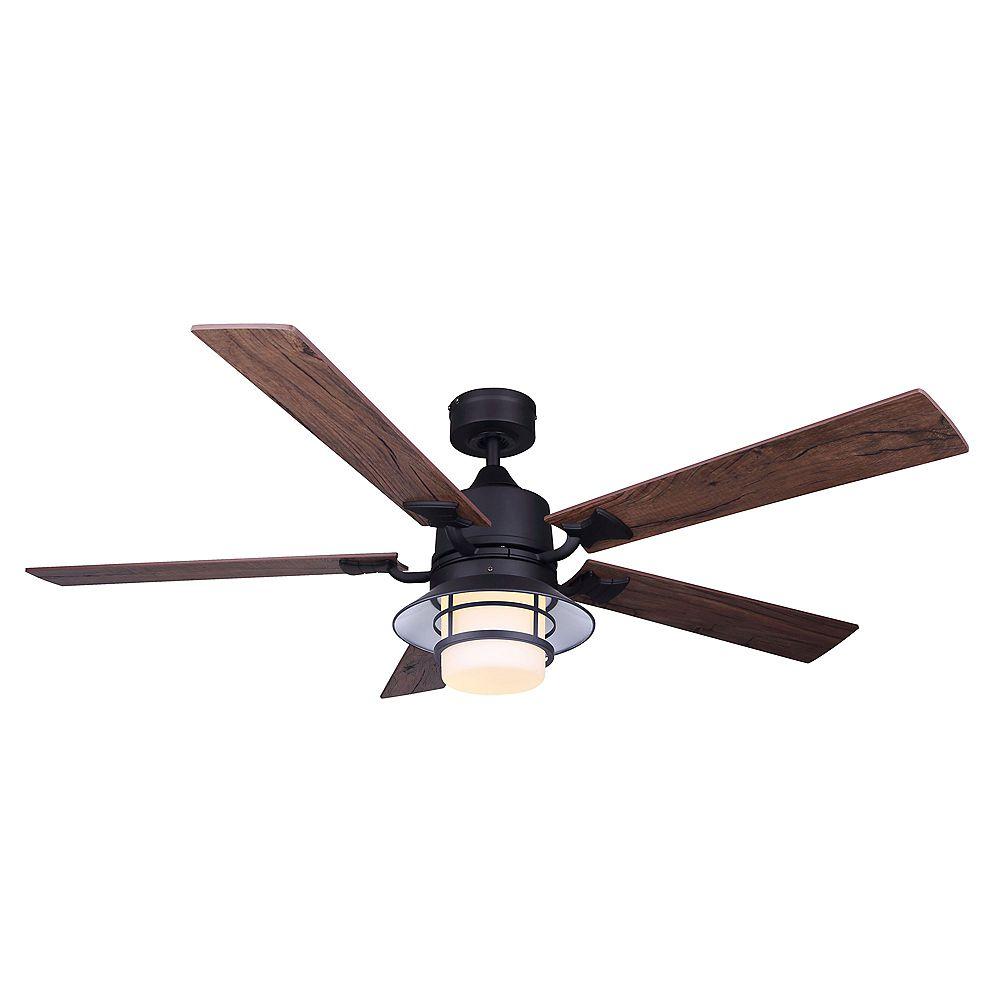 Canarm Ltd Dallas 52 in. LED Black Ceiling Fan