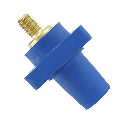 400 Amp 16 Series Taper Nose Female Panel Receptacle 90° Cam-Type, Blue