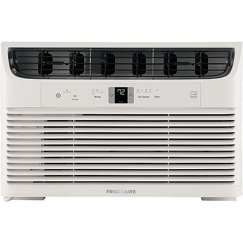 6000 BTU Window-Mounted Room Air Conditioner with Wi-Fi in White