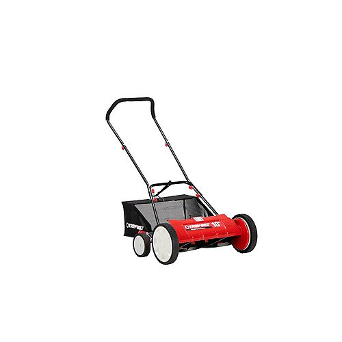18-inch Manual Walk Behind Reel Lawn Mower with Grass Catcher