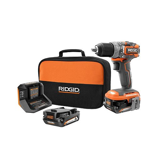 18V Brushless Cordless Sub-Compact 1/2-inch Hammer Drill Kit with (2) 2.0 Ah Batteries and Charger
