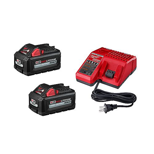 M18 18V Lithium-Ion High Output Starter Kit avec (2) 6.0 Ah Battery Packs and Charger