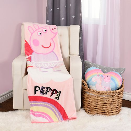 Peppa Pig Throw Blanket & Pillow Set