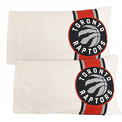 Nemcor Home NBA Toronto Raptors Pillowcase, Set of 2 (20 x 30 inches), Stripe