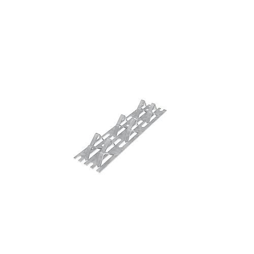 1-1/2 x 6 inch 18 Gauge G90 Mending Plate with hammer-in prongs