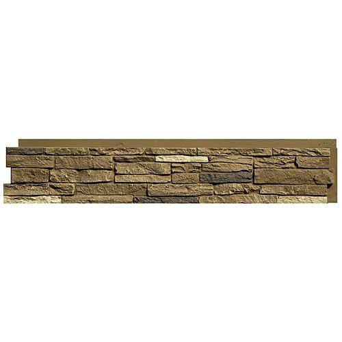 "Nextstone Slatestone Brunswick Brown 8.25 in x 43 in x 1.5"" Faux Stone Siding Panel (8-Pack)"
