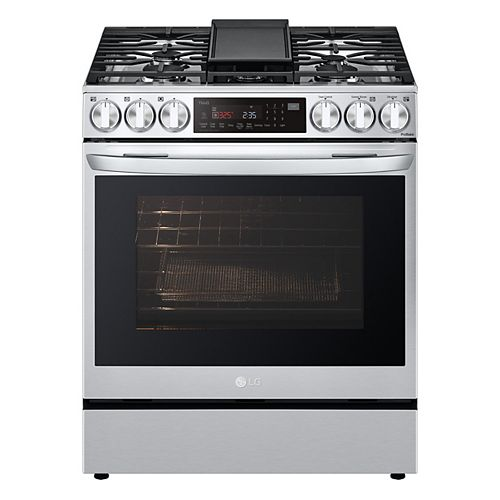 6.3 cu ft. Smart Gas Slide-in Range with Wi-Fi, Air Fry and InstaView in Stainless Steel