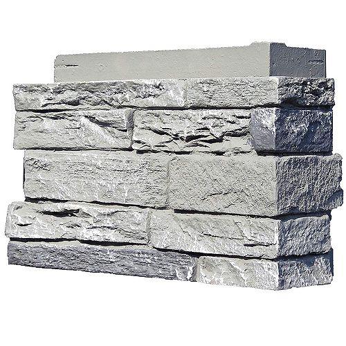 Nextstone Slatestone Rocky Mountain Graphite Corner Left Hand 12 3/4 in x 4 1/2 in x 8 1/4 in (4-pack)