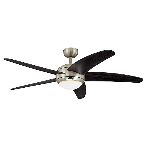 Bendan 52-in Indoor Ceiling Fan Satin Chrome Finish With Remote Control Included