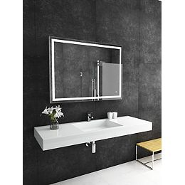 Liberty LED Lighted Mirror with Touch On/Off/Dim Sensor & Integrated Defogger 48 x 32 6000K