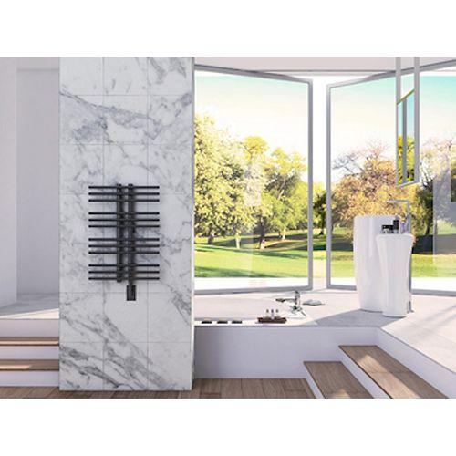 Hera Wall Mounted Electric Towel Warmer in Black