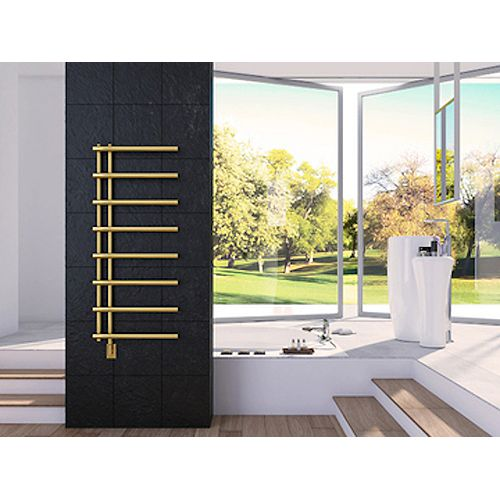 Rhea Wall Mounted Electric Towel Warmer in Gold