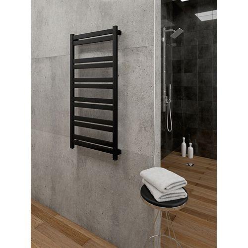 Hela Wall Mounted Electric Towel Warmer in Black