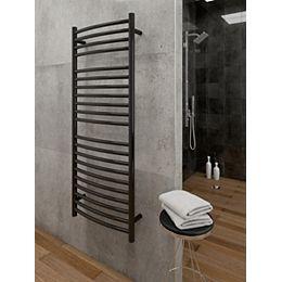 Hestia Wall Mounted Electric Towel Warmer in Black