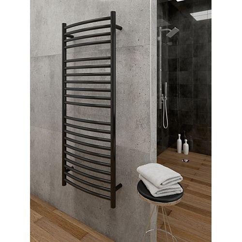 chauffe-serviettes électrique mural Hestia - Noir