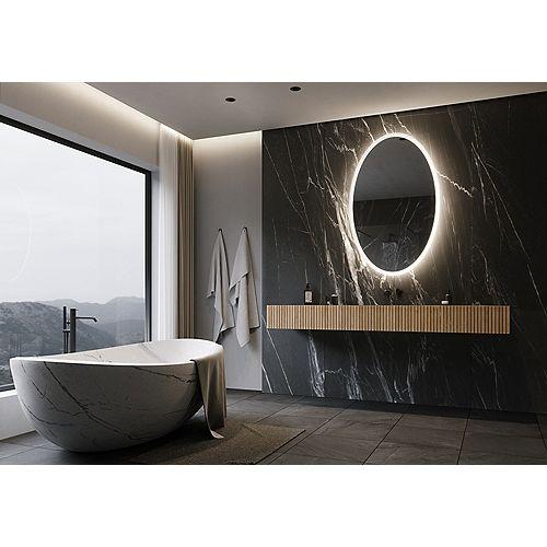 Oval Backlit LED Mirror 30 x 48 3000K