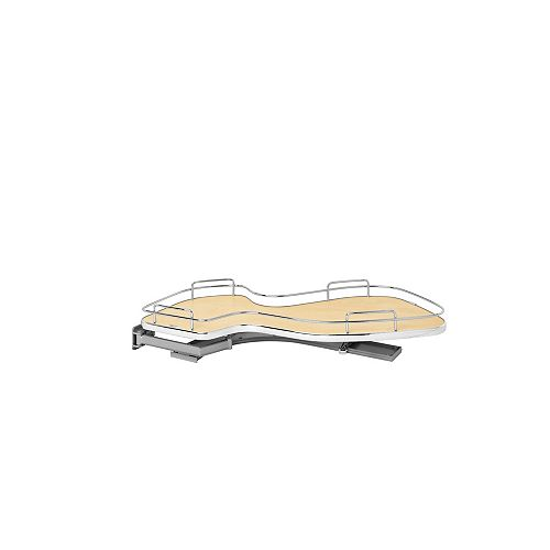 15 in (381 mm) Single-Tier Organizer for Left Blind Corner Cabinet, Maple/Chrome