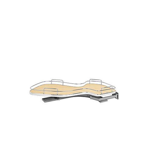 18 in (457 mm) Single-Tier Organizer for Right Blind Corner Cabinet, Maple/Chrome