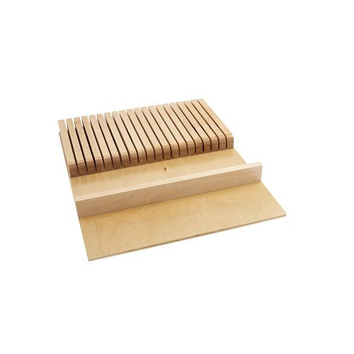 18 1/2 in (470 mm) Wood Knife Block Drawer Insert, Natural
