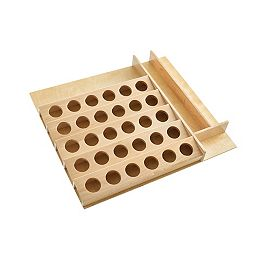 19 in to 22 in (483 mm to 559 mm) K-Cup Custom Drawer Insert, Maple