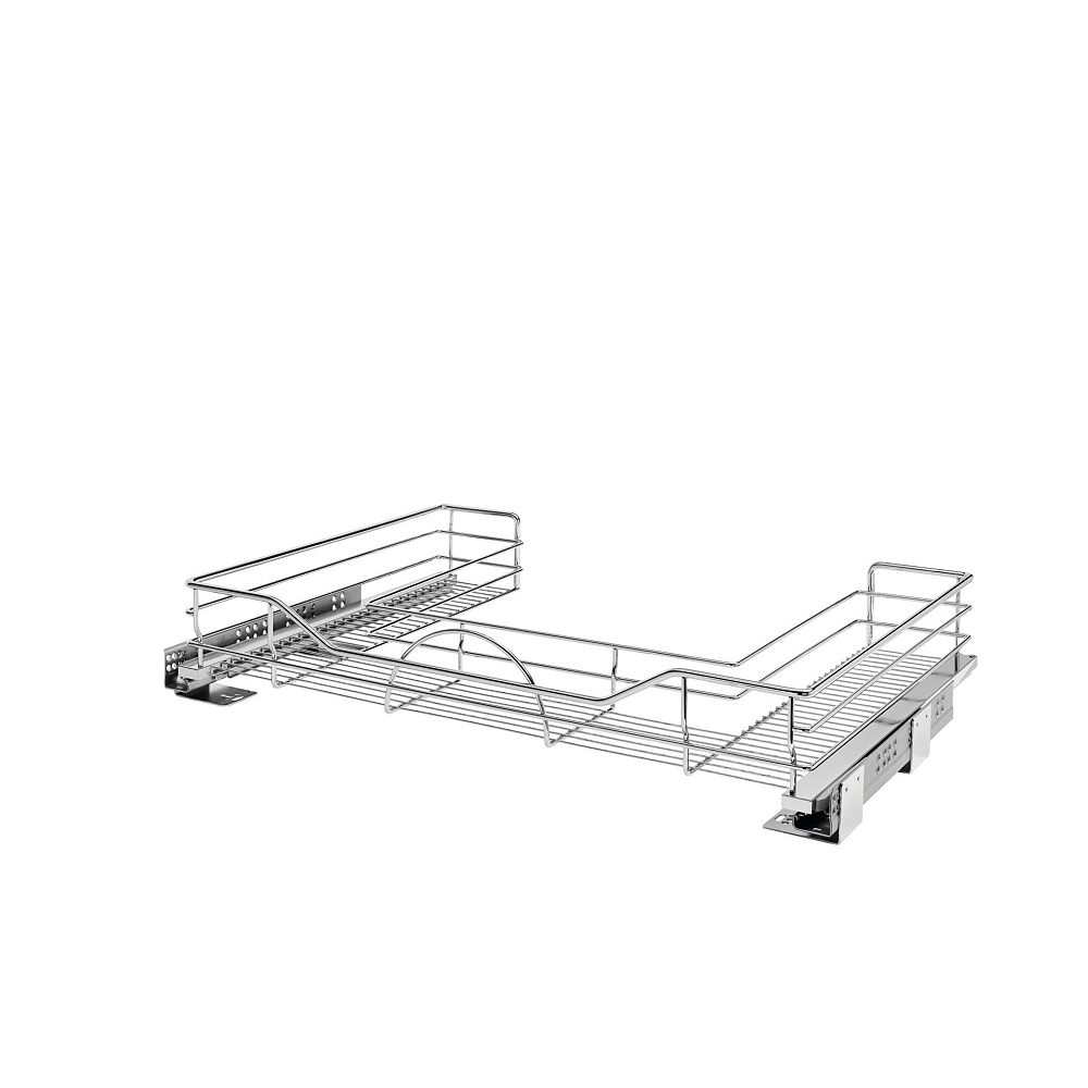 Rev-A-Shelf 29 1/2 in to 31 3/4 in (749 mm to 806 mm) U-Shaped Pullout with Soft-Close, Chrome