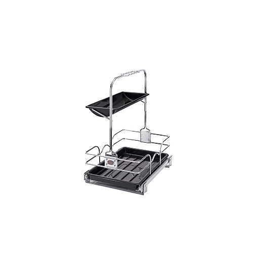 11 1/4 in (286 mm) Undersink Cleaning Caddy, Chrome