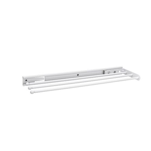 17 3/4 in (451 mm) Three-Prong Towel Bar Pullout, White