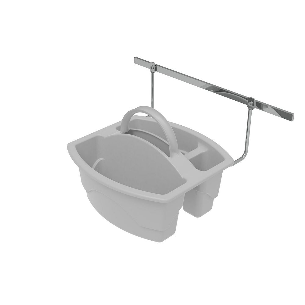 Rev-A-Shelf 9 3/4 in (248 mm) Door Mount Cleaning Caddy, White
