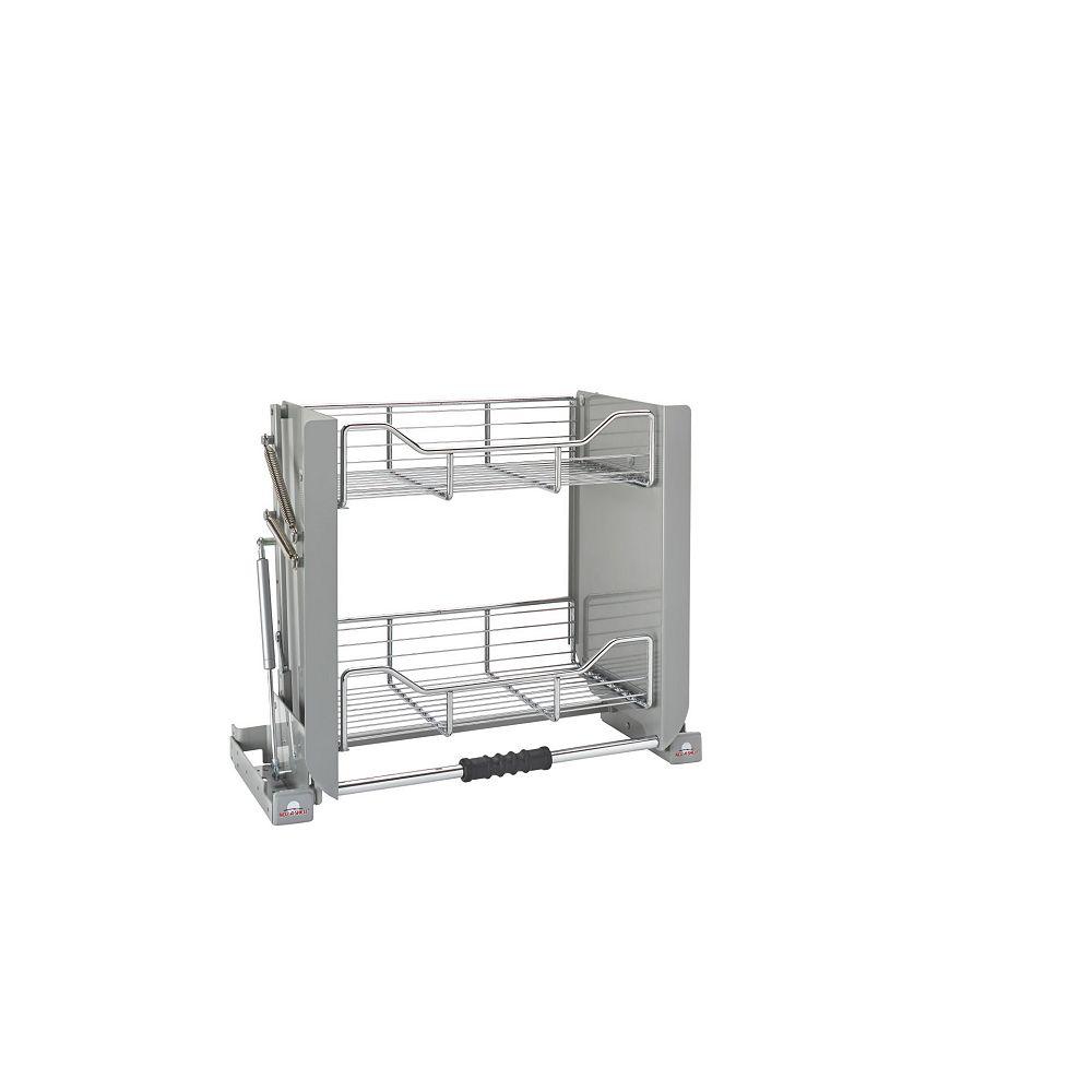 Rev-A-Shelf 17 lbs Capacity Pull-Down Shelving System, Gray and Chrome