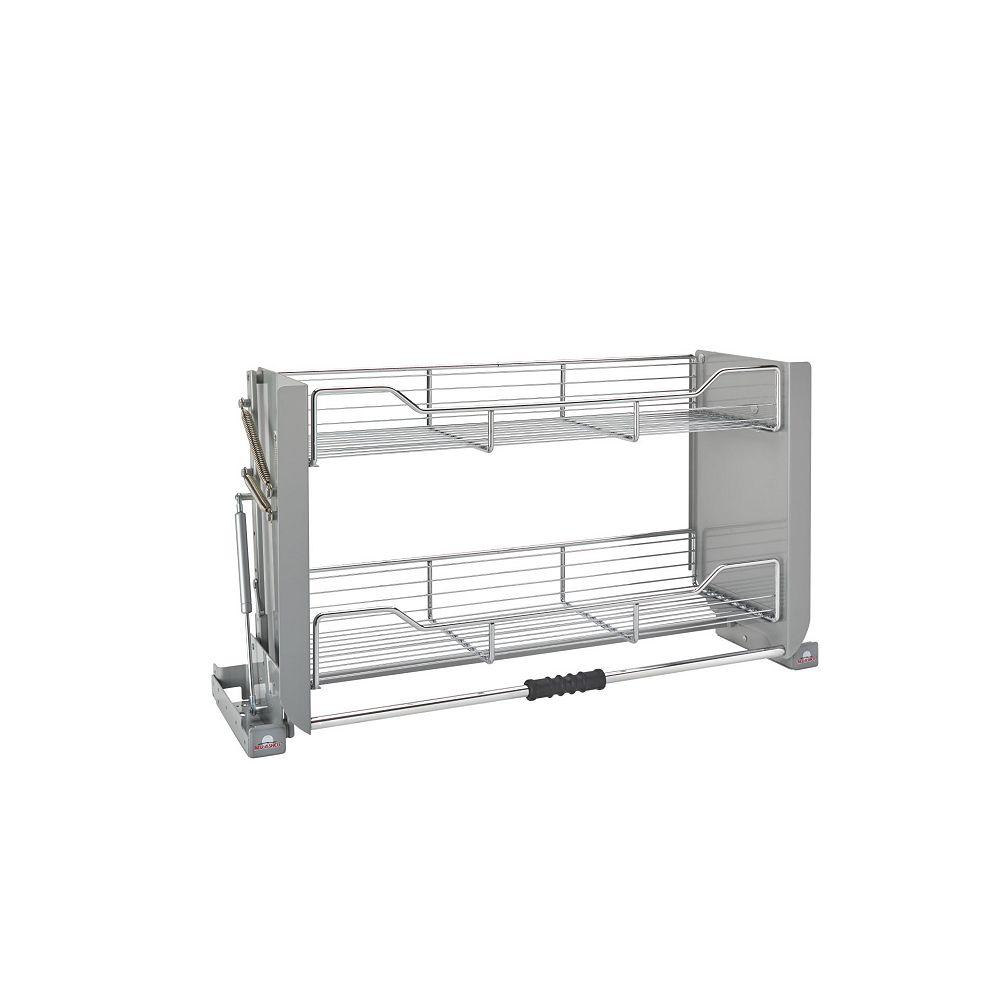 Rev-A-Shelf 26 lbs Capacity Pull-Down Shelving System, Gray and Chrome