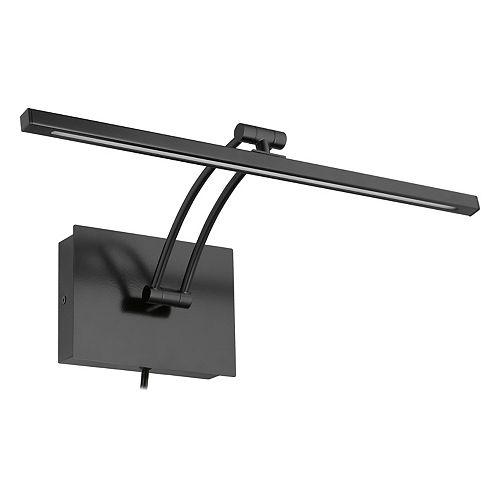 Doreen 2 18.25-inch 1-Light Matte Black LED Picture Light