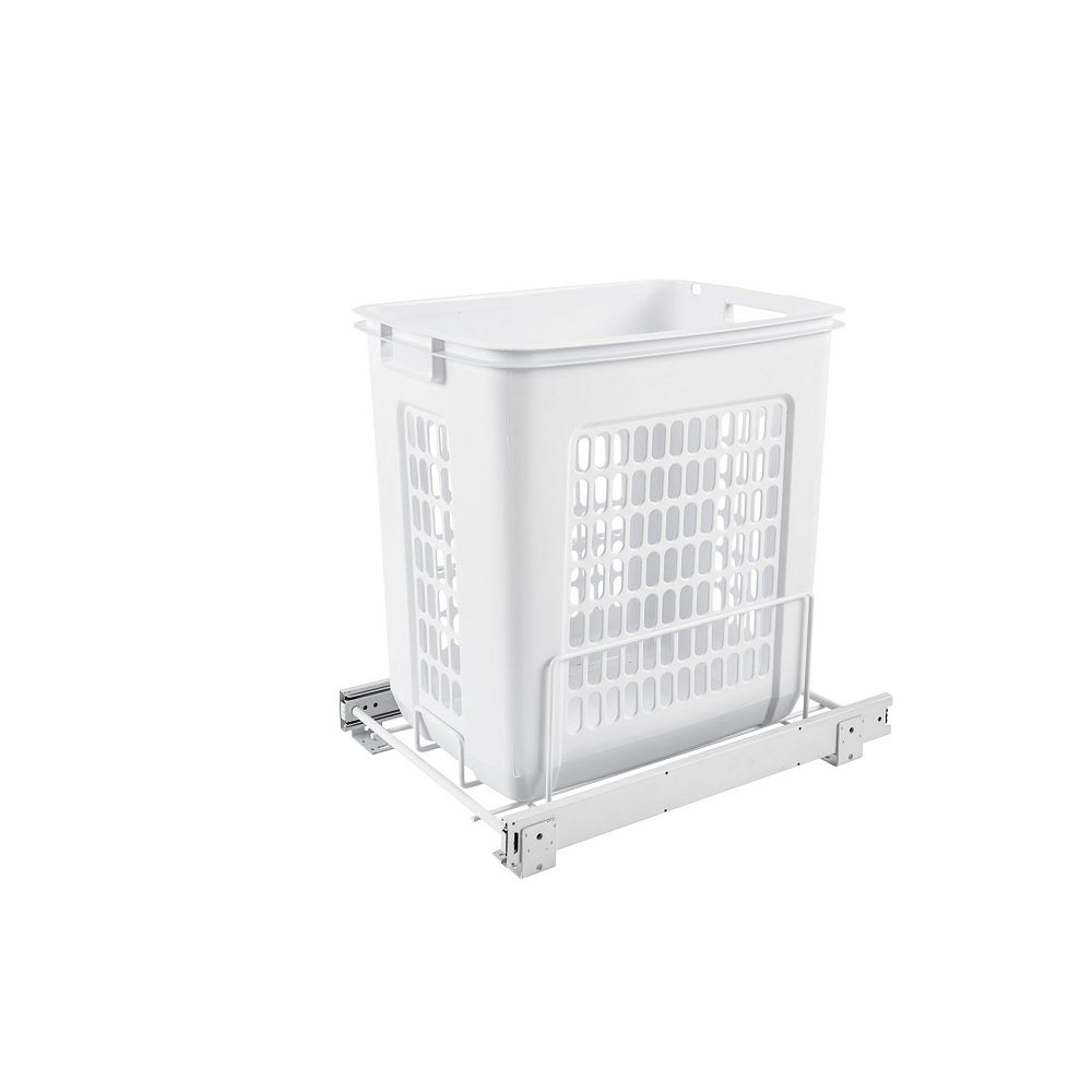 Rev-A-Shelf 100 lb (45 kg) Capacity Pullout Hamper, White