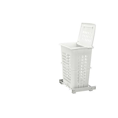100 lb (45 kg) Capacity Pullout Hamper, White