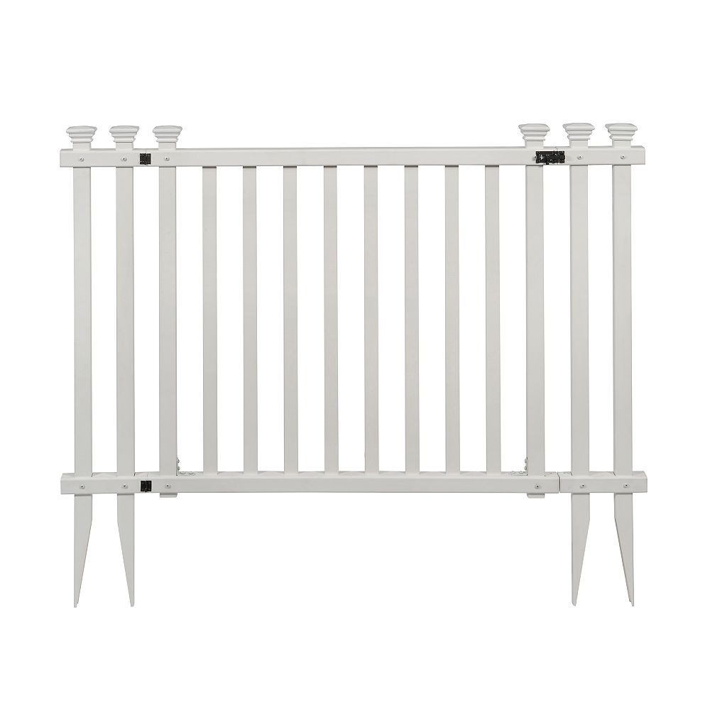 Zippity Outdoor Products 4.3 ft. W x 3 ft. H White Vinyl Baskenridge Fence Gate