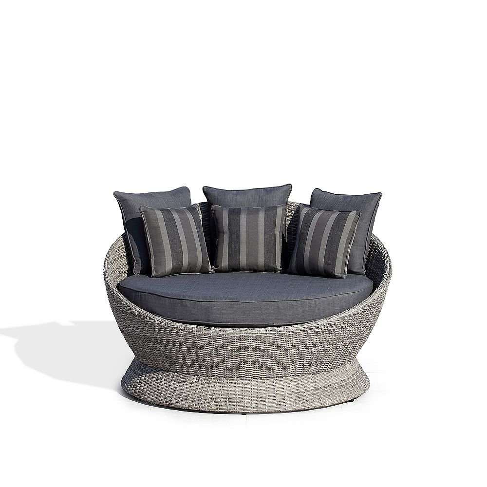 Ove Decors Brisbane II I-PC Outdoor Daybed with Dark Grey Cushions
