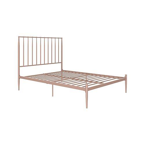 Giulia Full Modern Metal Bed in Millennial Pink