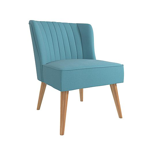 Brittany 33.5in x 29.5in x 25.5in Accent Chair in Light Blue Linen