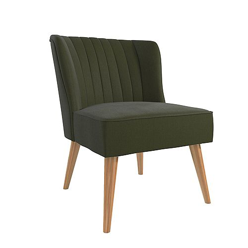 Brittany 33.5in x 29.5in x 25.5in Accent Chair in Green Linen