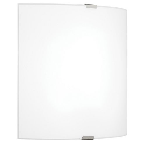 Grafik 7.13-inch 1-Light Chrome Wall Sconce with Satin Glass Shade