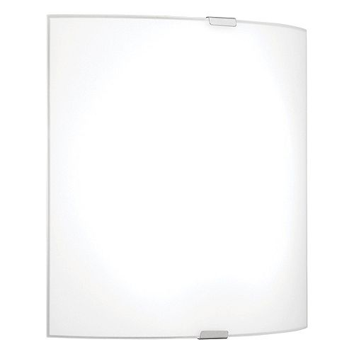 Grafik 11-inch 1-Light Silver LED Wall Sconce with White Glass Shade
