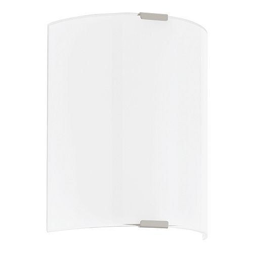 Grafik 6.88-inch 1-Light Silver LED Wall Sconce with White Glass Shade
