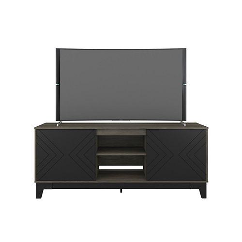 Nexera Arrow 63 inch TV Stand in Black and Bark Grey