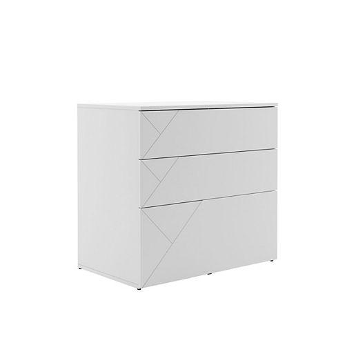 Atypik 3 Drawer Anti-tilt File Cabinet in White
